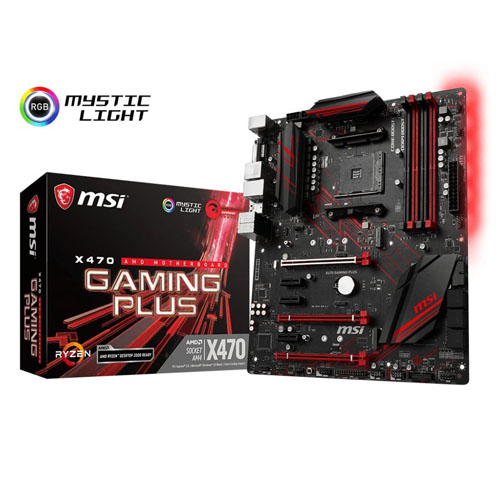 MSI Motherboard X470 Gaming Plus (AMD Ryzen)